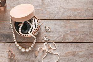 Cherished jewelry in a small box